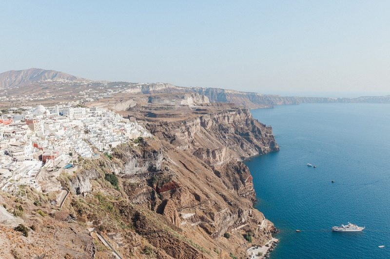 Beautiful View of The Caldera From Mystical Blue in Santorini