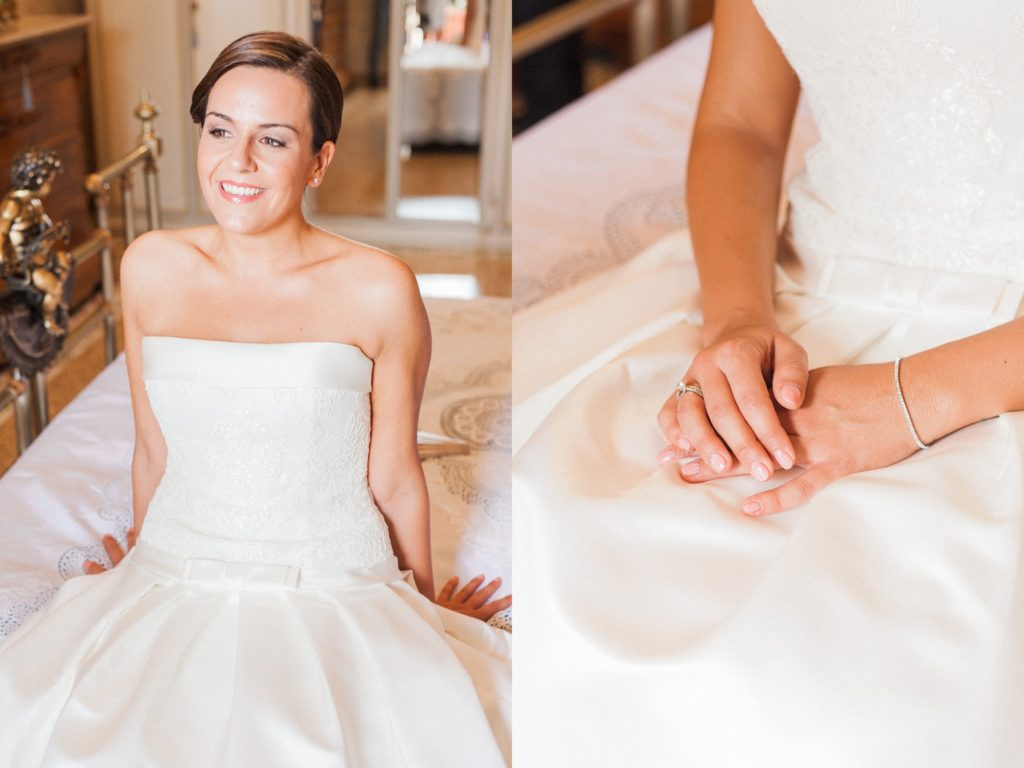 Portraits of the bride on the morning of her wedding in Apulia