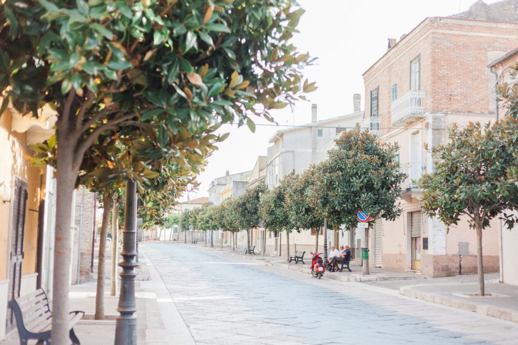 The streets of Italian village of Chieuti in Apulia