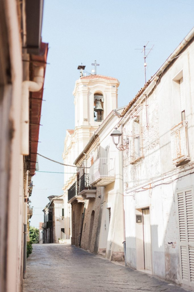 A traditional church in the Italian village of Chieuti in Apulia