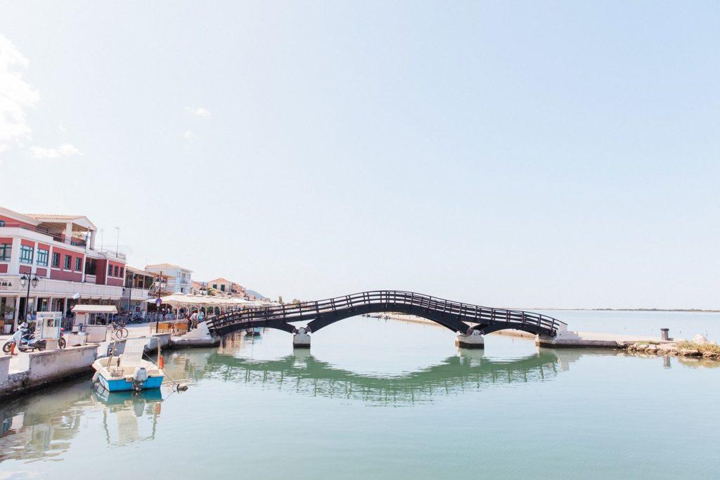 The pedestrian bridge of Lefkada town