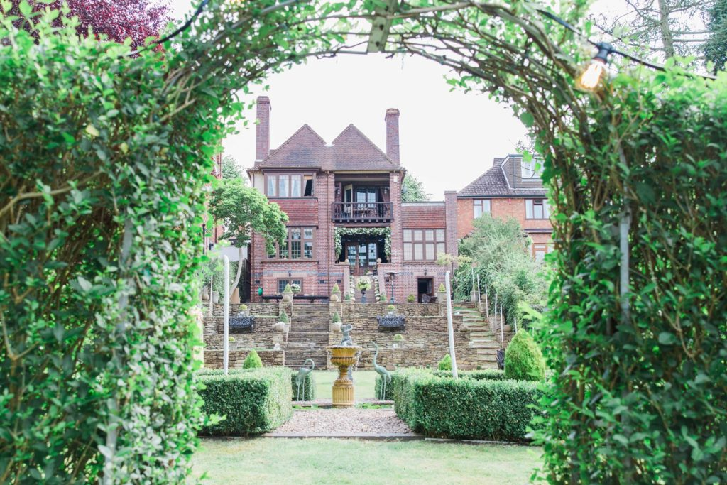 Double storey English brick house and gardens in Leicestershire