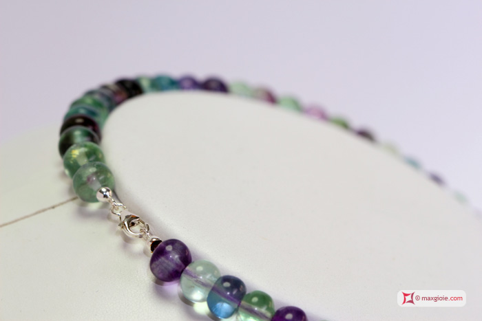 Extra Fluorite Necklace 8½mm washer in Silver