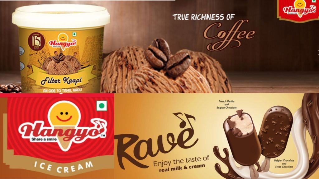 Hangyo is a flagship top ice cream brand in India
