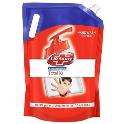 Lifebuoy hand wash for deep dirt cleaning.