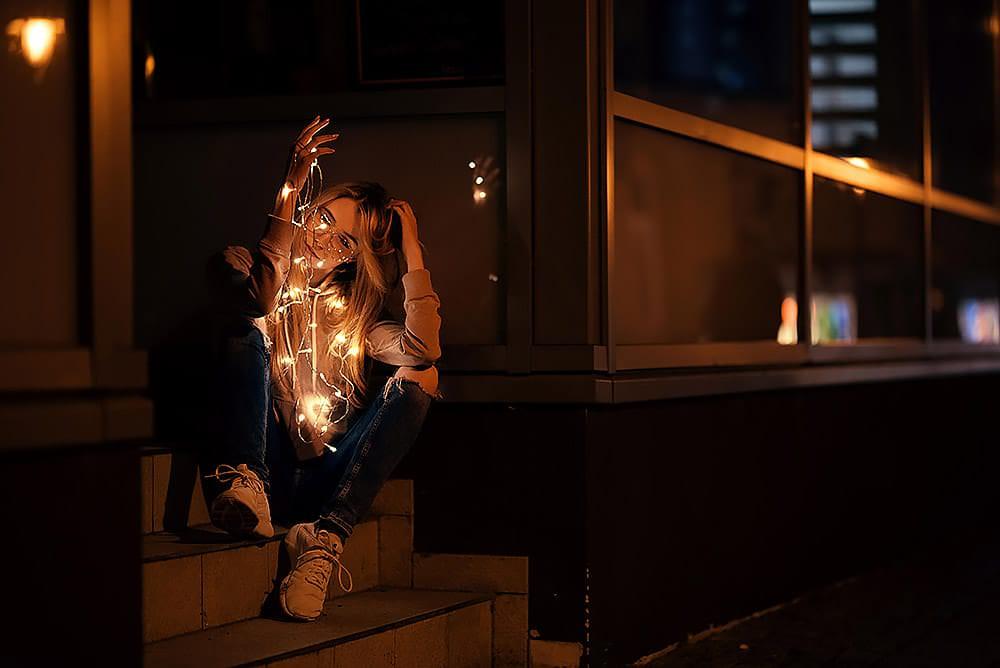 Fotoshooting Streetfotografie Fotograf fotostudio werbefotograf Medienagentur Fotokurs Workshop Profifotograf max hoerath sonneberg sonnefeld coburg - Lichterketten Shooting I mit Selina