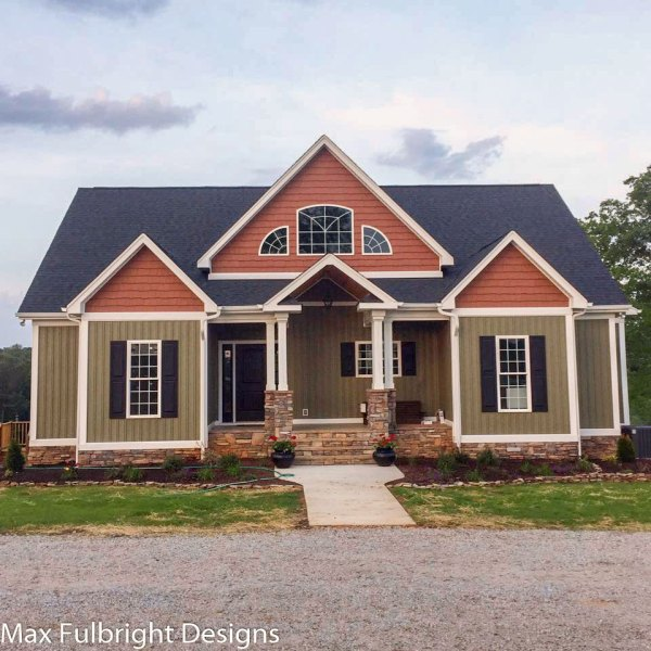 4 Bedroom House Plan   Craftsman Home Design by Max Fulbright 4 bedroom house plan craftsman home design