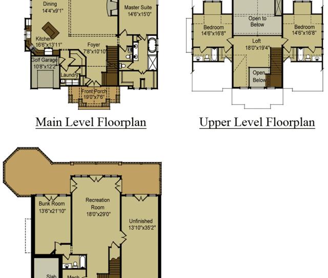 Mountain House Floor Plans