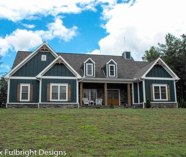 Craftsman Country Farmhouse Plan Blue Paint