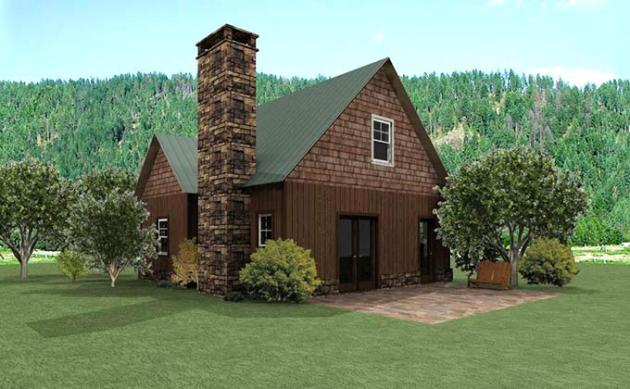 Small Cottage Design   Small Cottage House Plan with Loft small cottage cabin design with loft