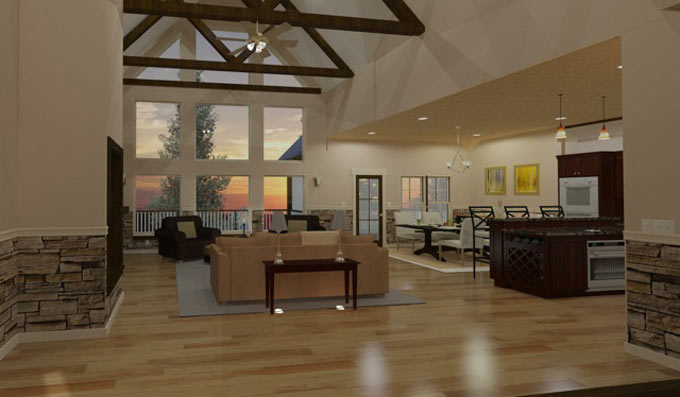 Mountain House With Open Floor Plan By Max Fulbright Designs