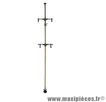 support velo vertical magasin 2 velos fixation sol plafond 2 05m a 3 75m accessoire velo pas cher
