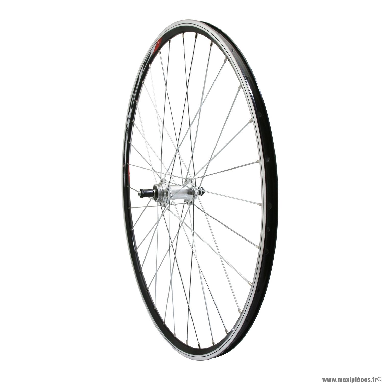 roue velo route 700 elan arriere cfx couleur noire moyeu aluminium rl 7 6 vitesses 32 trous marque velox