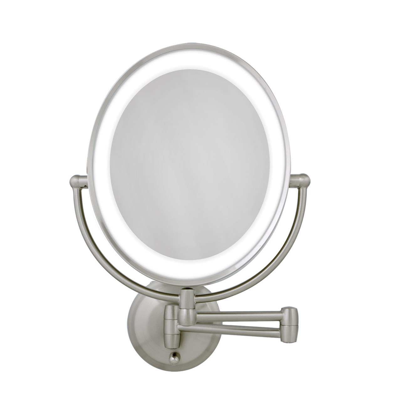 Maxiaids Led Lighted Wall Mount Oval Make Up Mirror 10x 1x