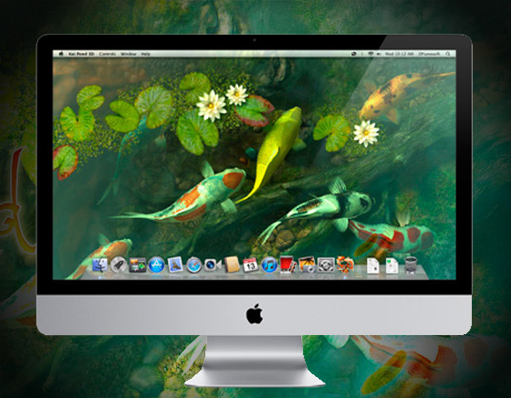 Koi-Pond-3D-Mac-OSX-Aquarium-Poissons-Wallpaper-1