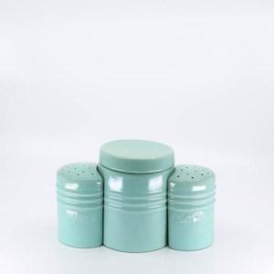 Pacific Pottery Hostessware 232-233-234 Oven Range Set Green