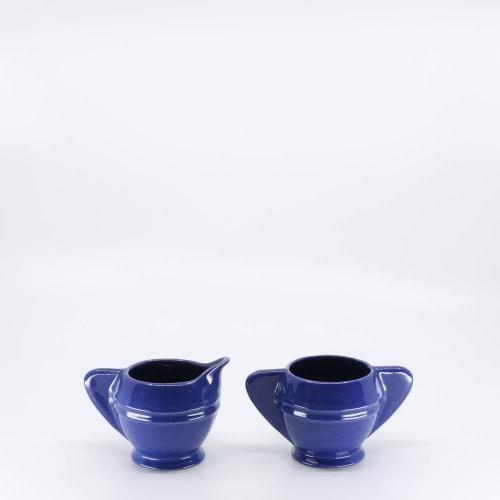 Pacific Pottery Hostessware 449-450 Demi Creamer Sugar Pacblue