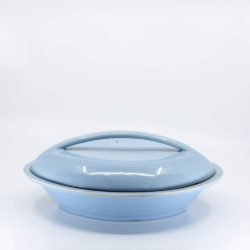 Pacific Pottery Hostessware 640-640A Divided Veg Bowl with Lid Delph