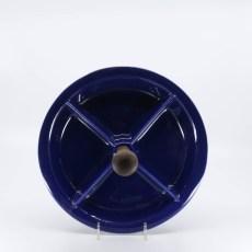 Pacific Pottery Hostessware 662 4-Part Relish Pacblue