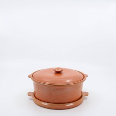 Pacific Pottery Hostessware 201-202 Casserole Set Red