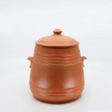 Pacific Pottery Hostessware 305 Pretzel Jar Red