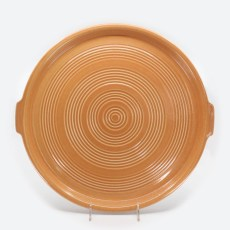 Pacific Pottery Hostessware 413 Tab Target Platter Apricot