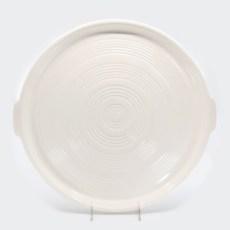Pacific Pottery Hostessware 413 Tab Target Platter White