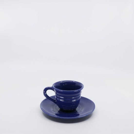 Pacific Pottery Hostessware 608-609A Teacup & Saucer Pacblue