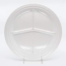 Pacific Pottery Hostessware 615 Divided Plate White