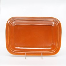Pacific Pottery Hostessware 616 Rectangular Tray Med Red