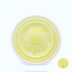 Pacific Pottery Hostessware Decorated G 611 Luncheon Plate Yellow
