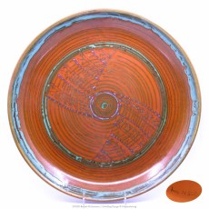 Pacific Pottery Hostessware Decorated hmc N30B 623 Low Bowl Red