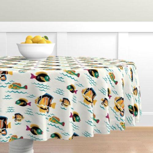 QwkDog Merida Fish Design Tablecloth 02