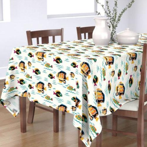 QwkDog Merida Fish Design Tablecloth 01