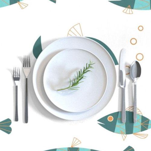 QwkDog Metlox Tropicana Fish Design Tablecloth 02