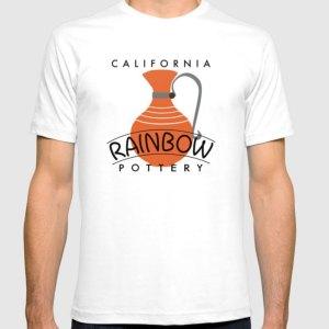 QwkDog Meyers California Rainbow Logo Design T-Shirt