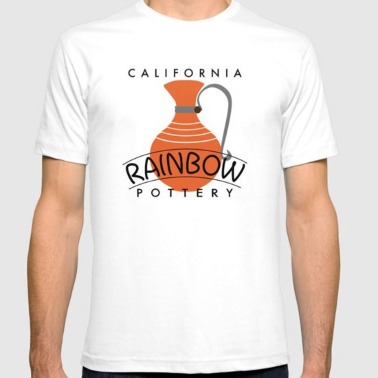 QwkDog Meyers California Rainbow Logo Design T-Shirt