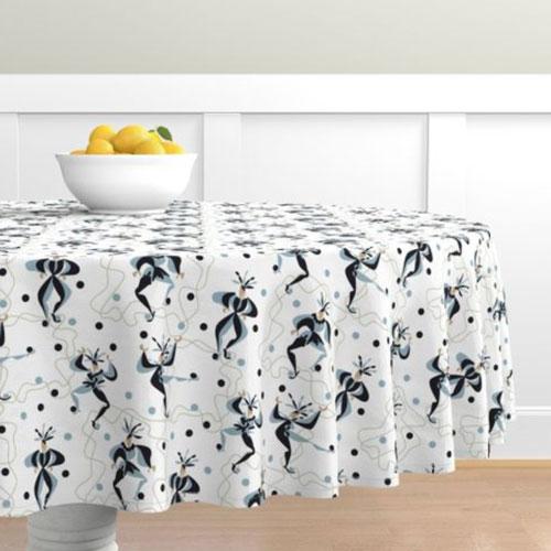QwkDog Red Wing Kermis Pattern Design Tablecloth 02