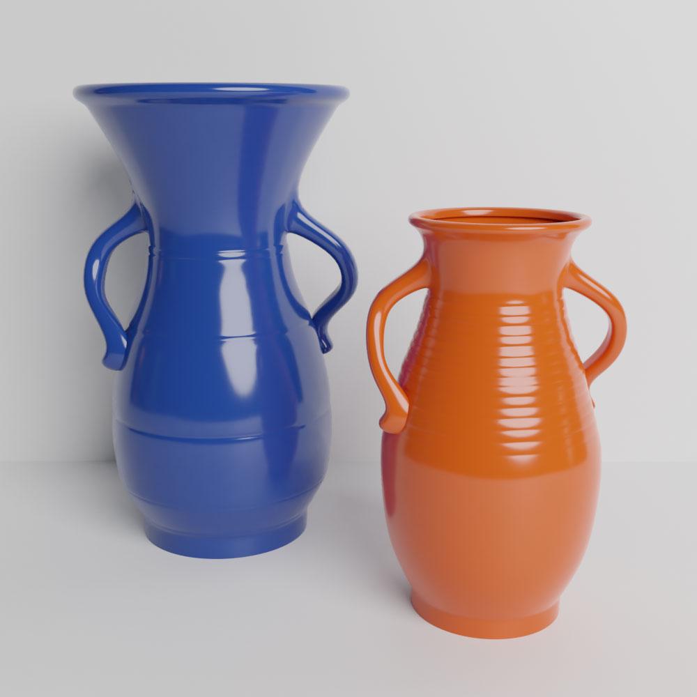 Bauer Pottery Hands on Hips Vases