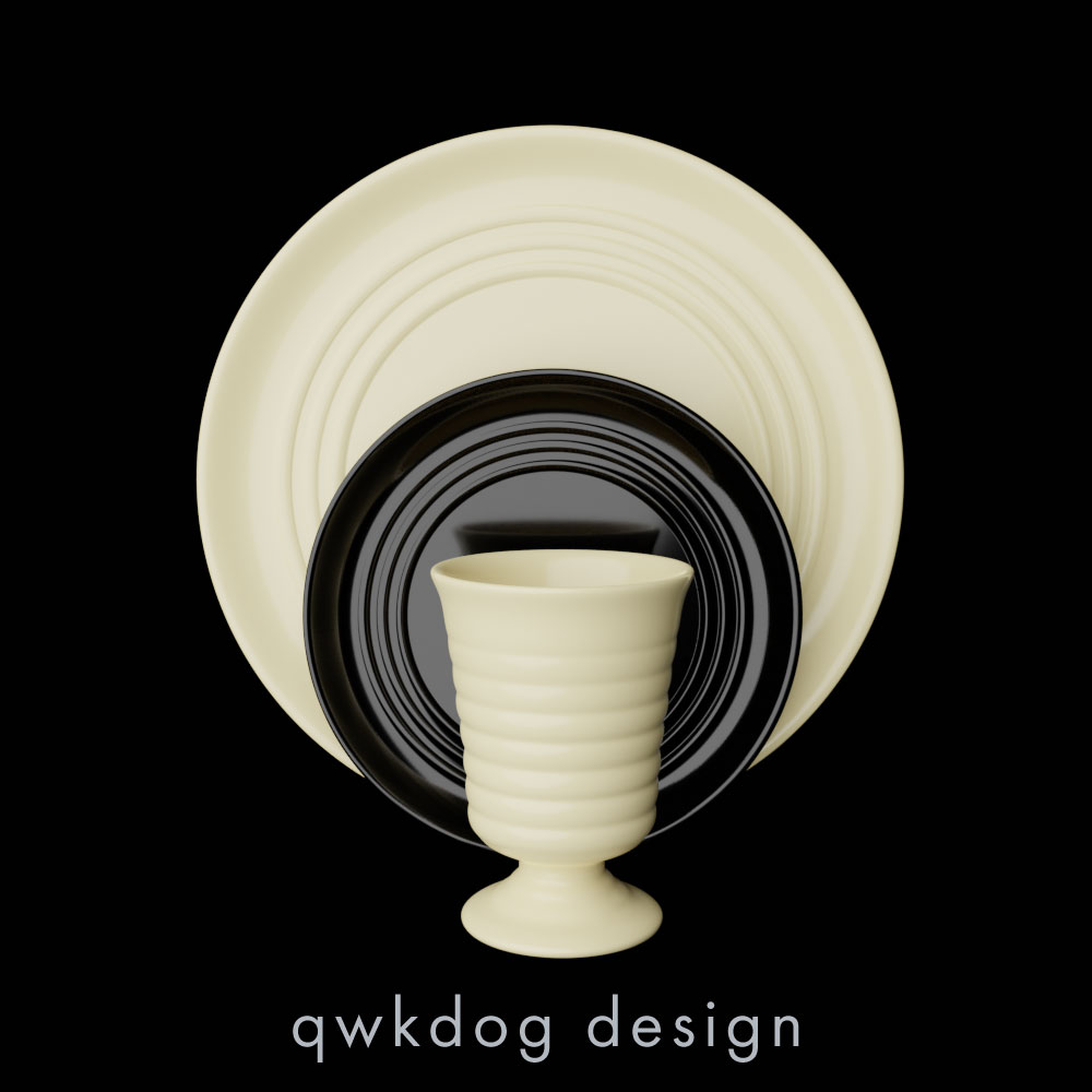 QwkDog Bauer Pottery Ringware Place Setting