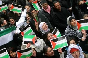 Janvier 2008: manifestation pro-palestinienne dans les rues de Lyon.