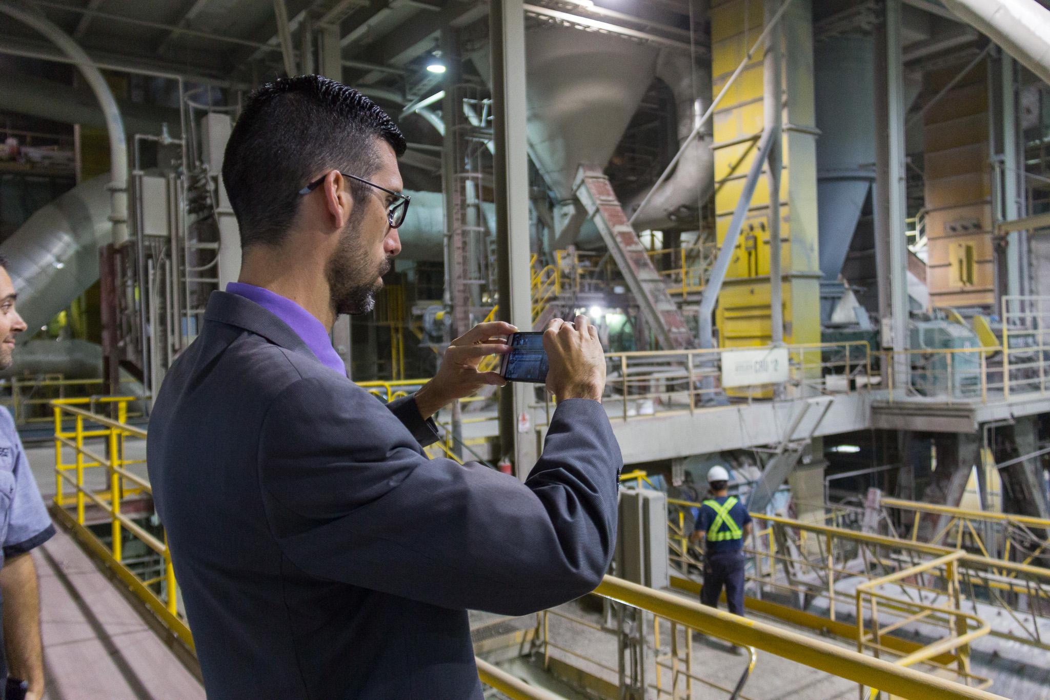 Visite de l'usine, LafargeHolcim