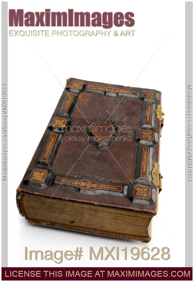 Stock Photo Antique Hard Cover Book MaximImages Image