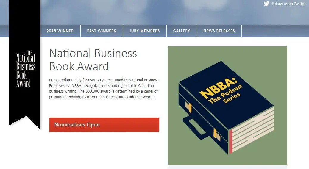 National Business Book Award website
