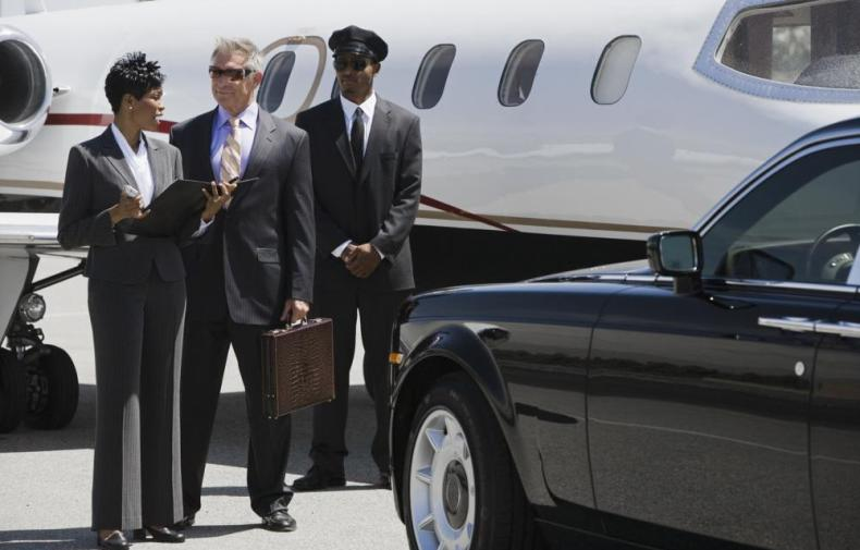 limousine at airfield