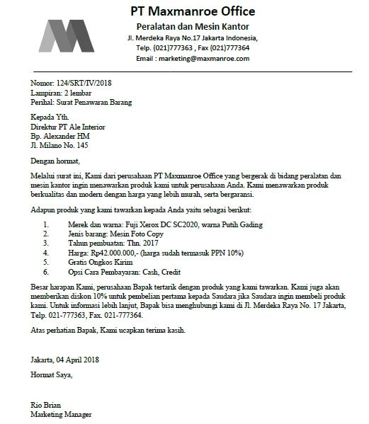 Contoh Surat Negosiasi: Informasi Seputar Dunia Militer