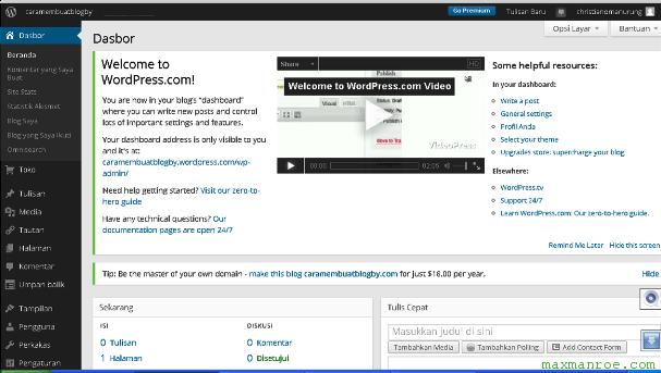 Laman muka WordPress.com