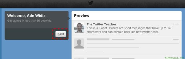 mendaftar twitter