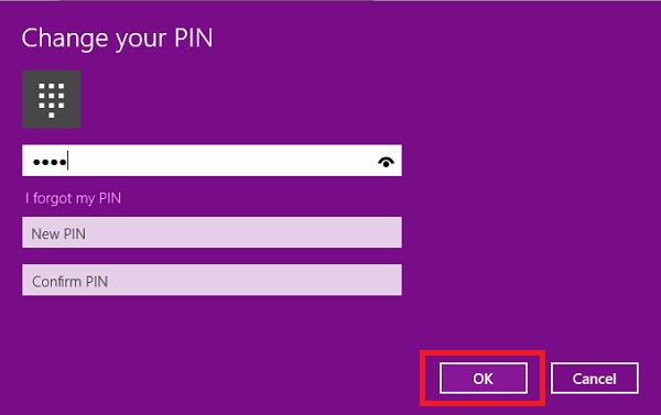 pin changed