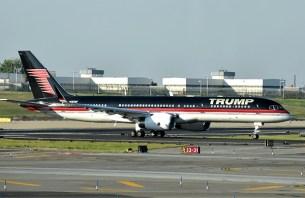 donald trump private airplane